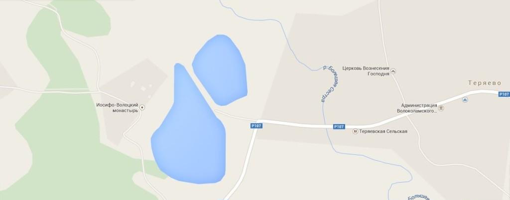 Теряево. Иосифо-Волоцкий монастырь.Схема проезда