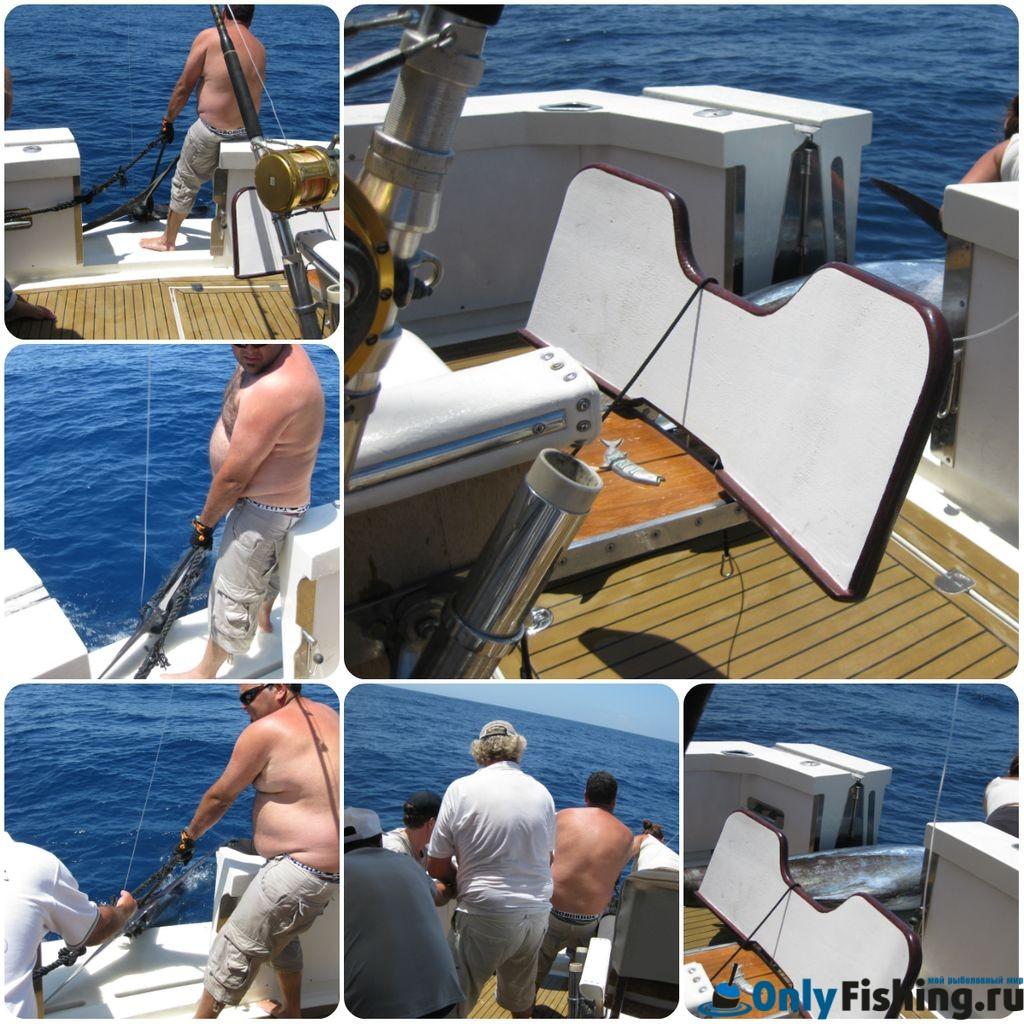 Вытаскиваем Синего Марлина на яхту