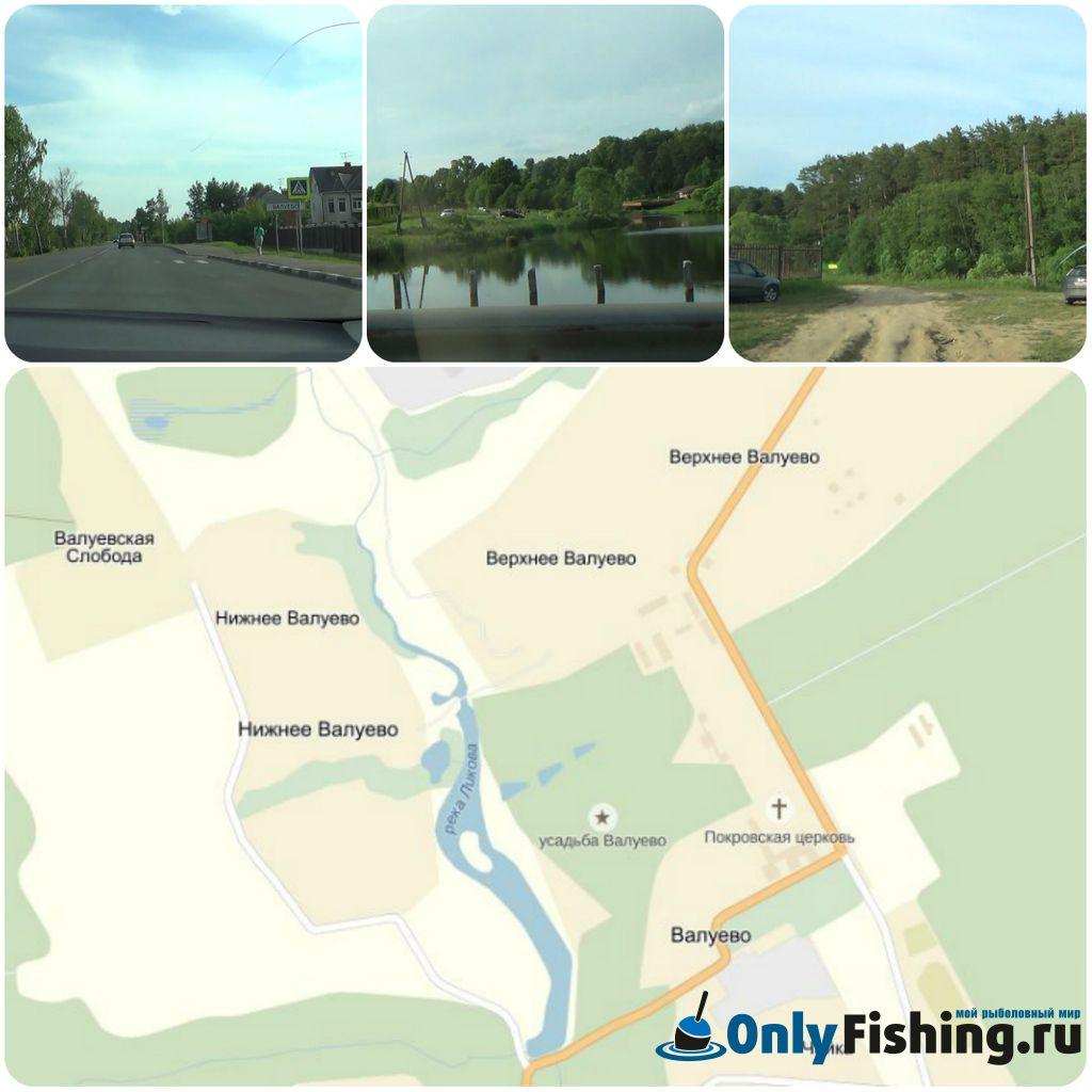 Река Ликова, схема проезда
