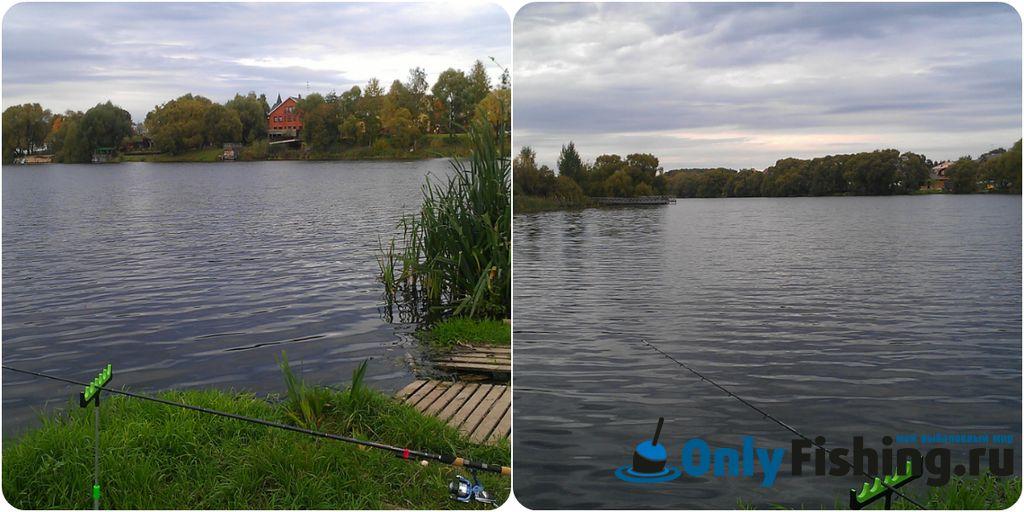 Рыбалка на реке Сосенка, в Ларево.